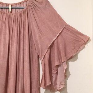 Elan Dresses - NWOT Elan Blush Pink Bell Sleeves Dress